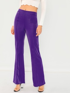 Mid Rise Stretch Flare Leg Pants