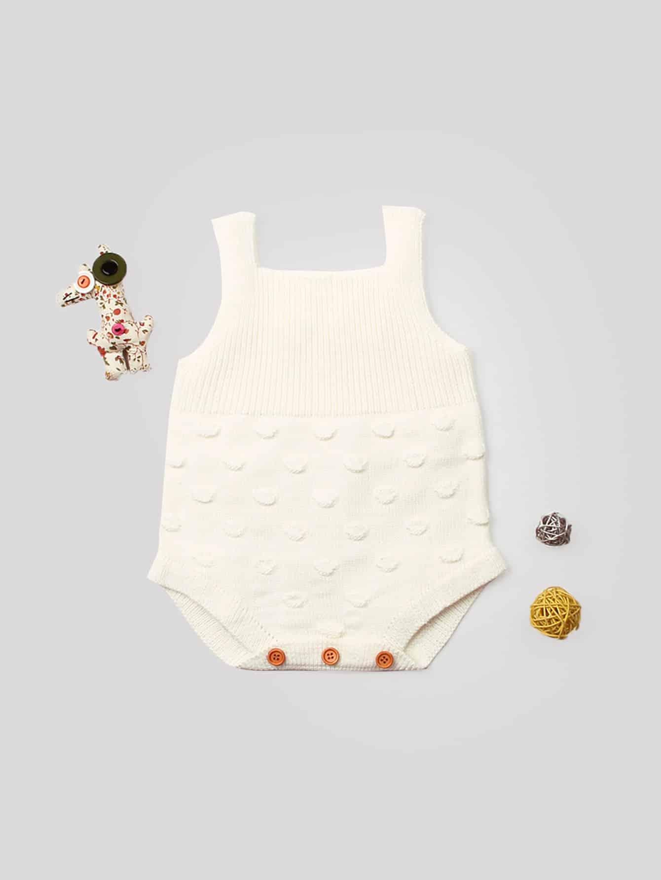 Купить Для маленьких девочек вязанный комбинезон, null, SheIn