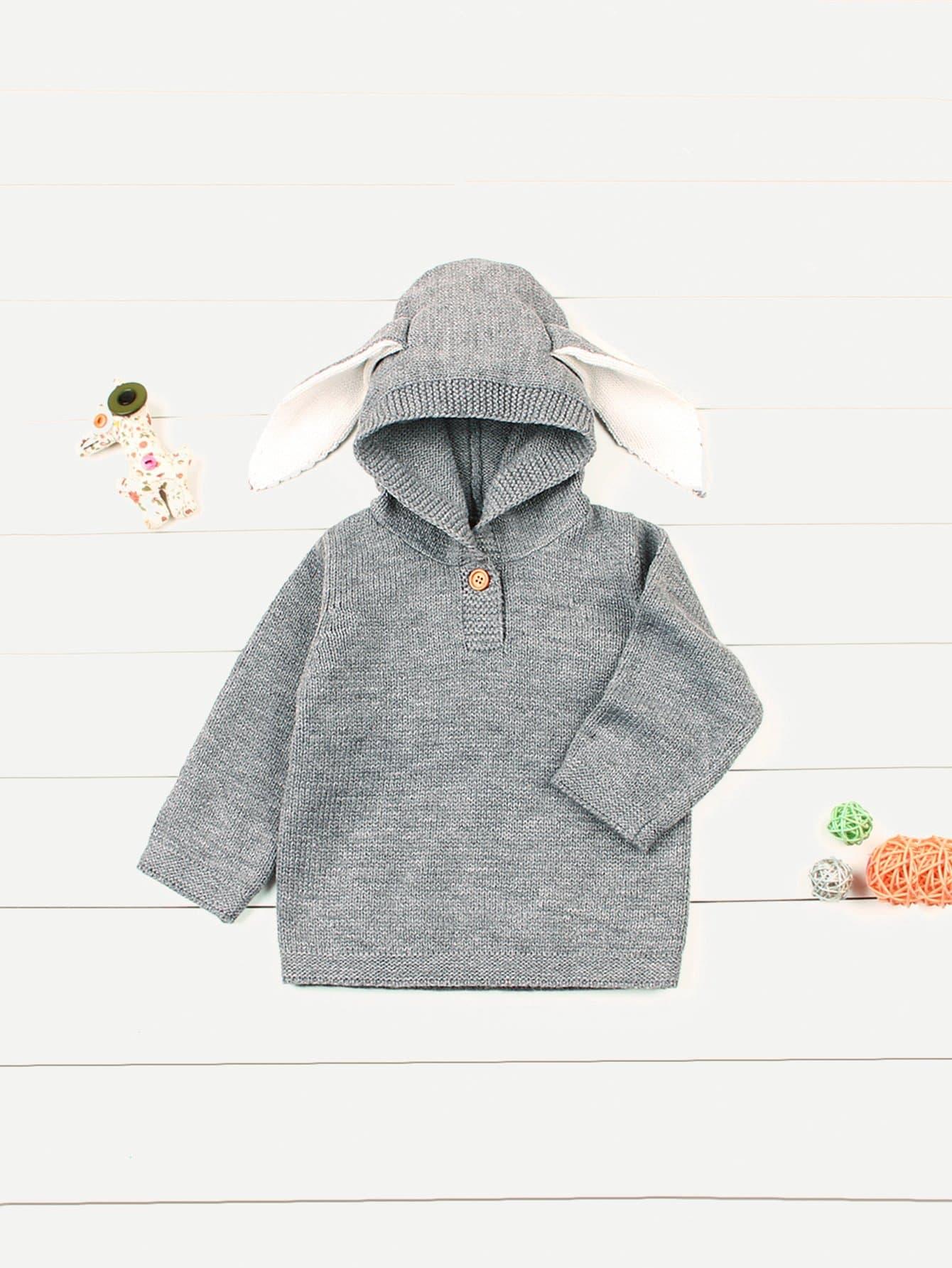 Купить Для маленьких мальчиков свитер с капюшоном, null, SheIn