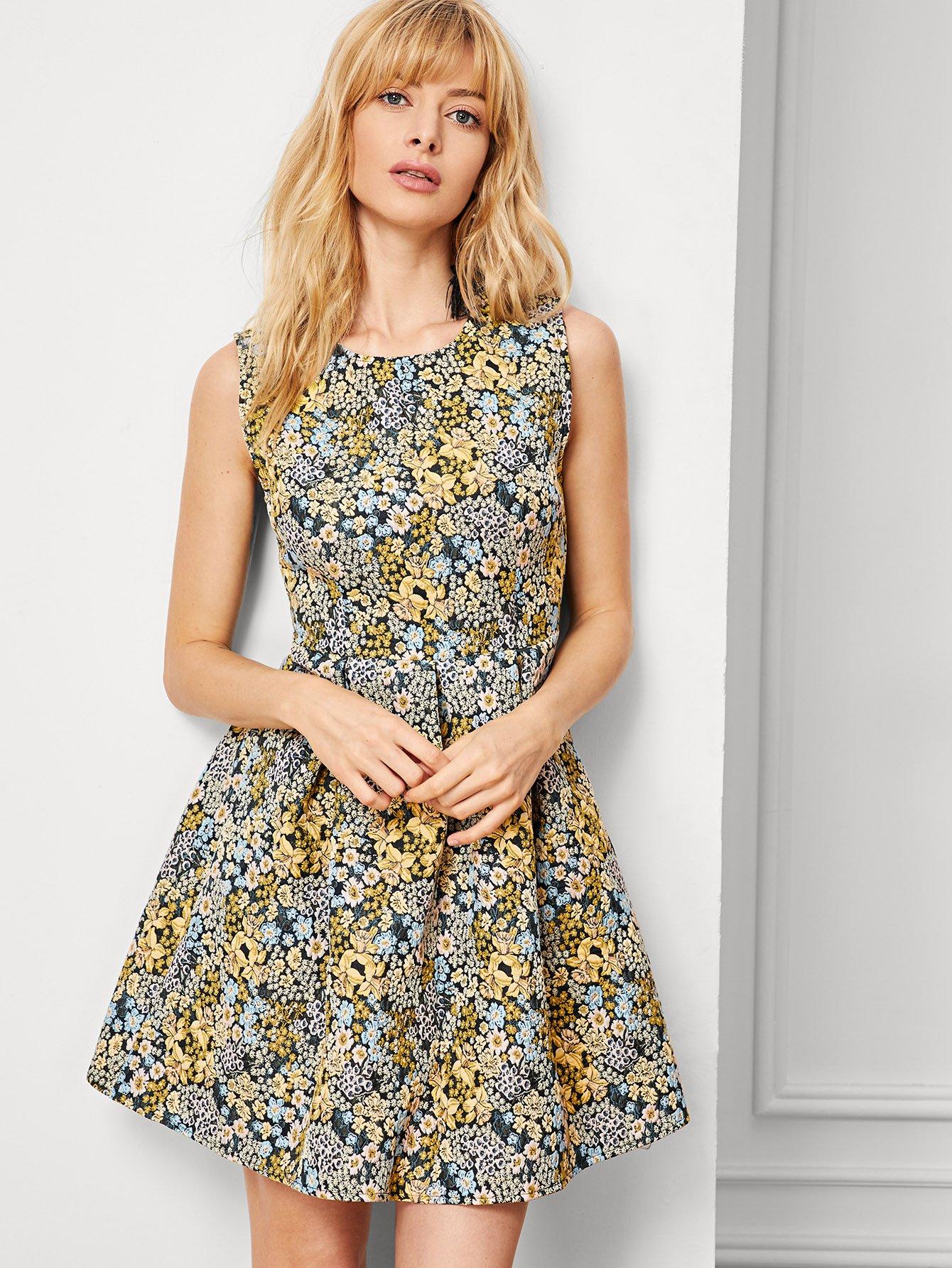 Купить Платье с рисунком принтом, Masha, SheIn