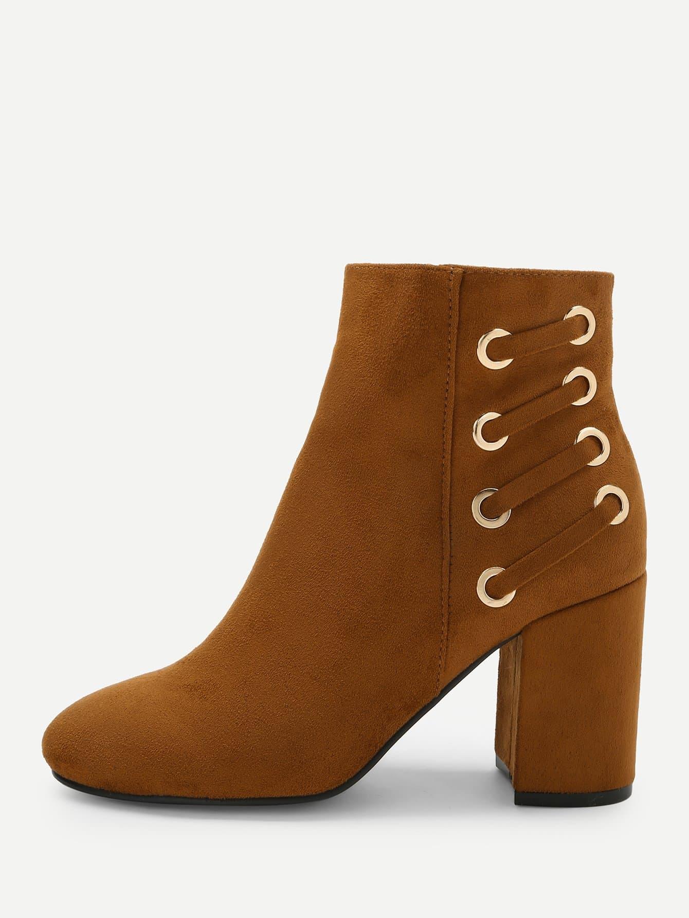 Купить Высокие сапоги на высоких кусковых каблуках, null, SheIn