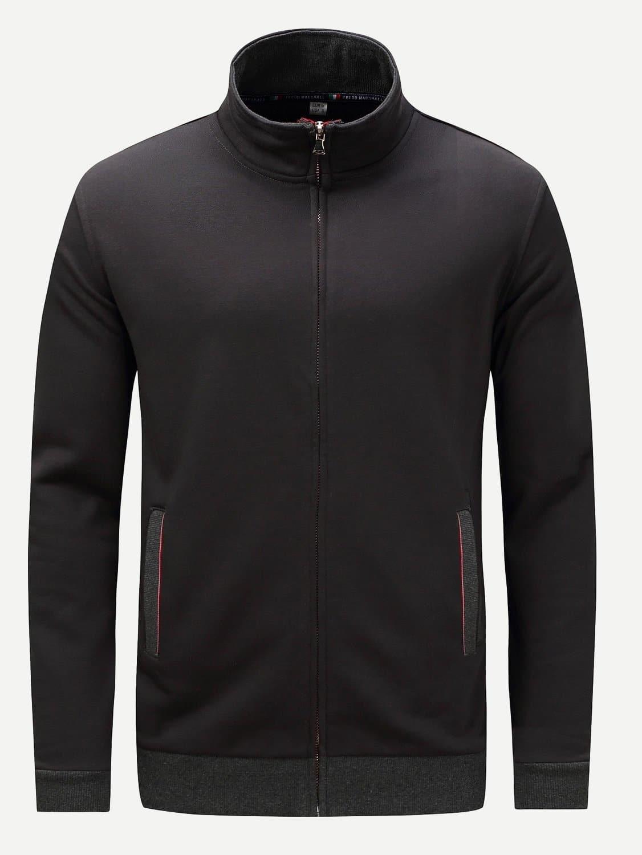 Купить Мужское пальто с контрастными оторочками, null, SheIn