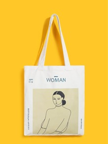Figure | Canvas | Print | Tote | Bag