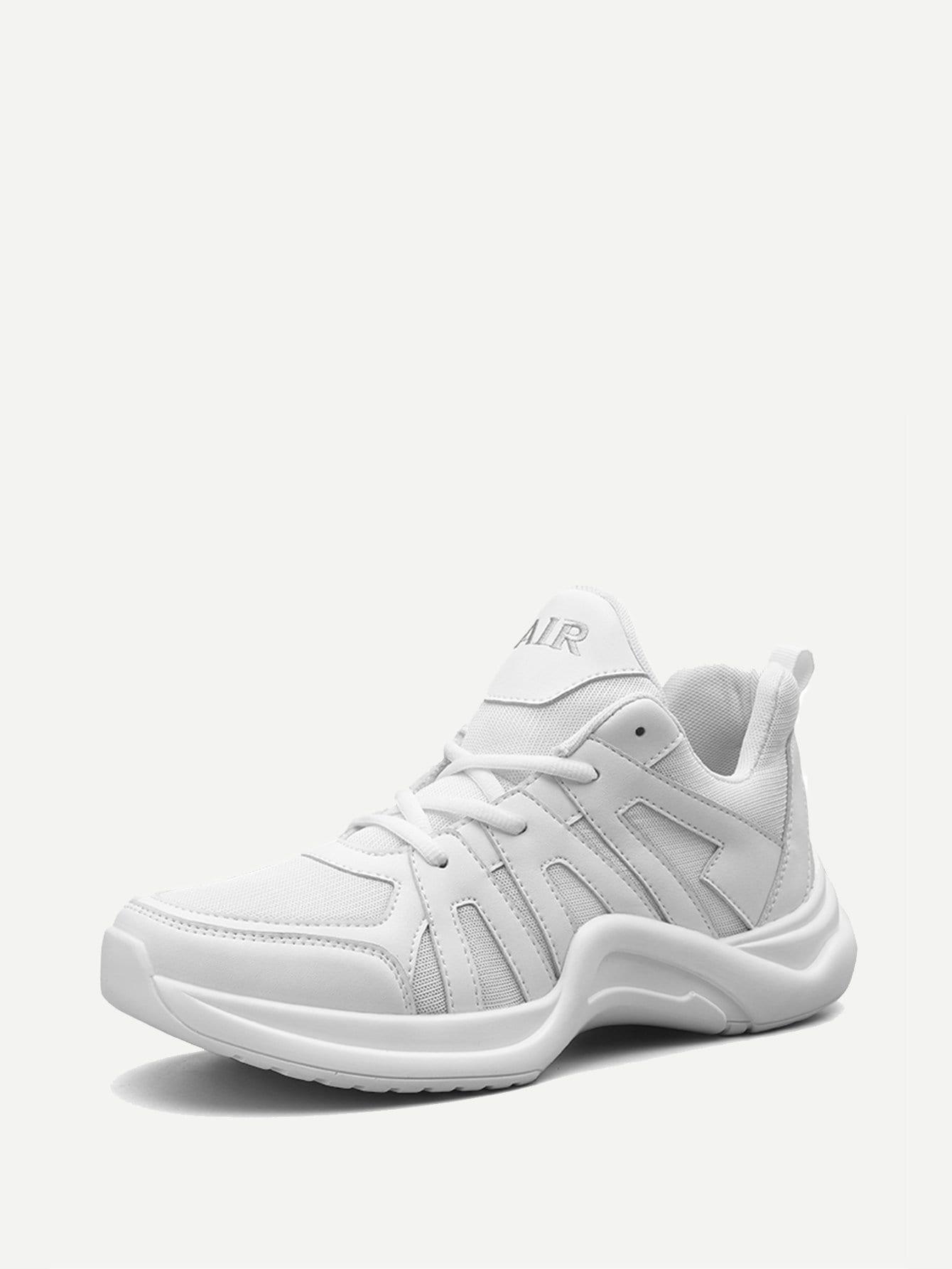 Купить Мужские сетчатые спортивные туфли с шнурками, null, SheIn