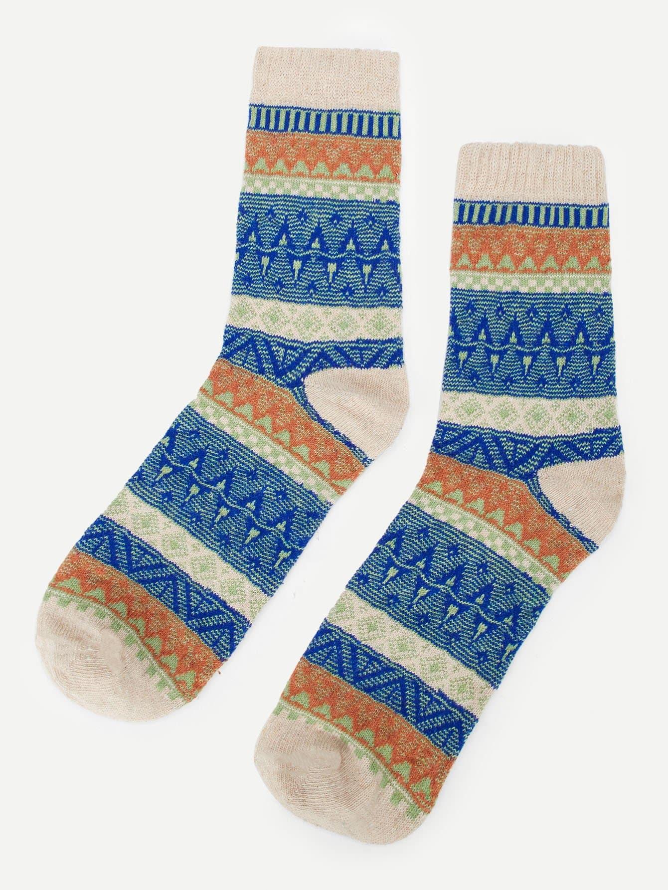 Купить Мужские носки с принтом разным 1 пара, null, SheIn