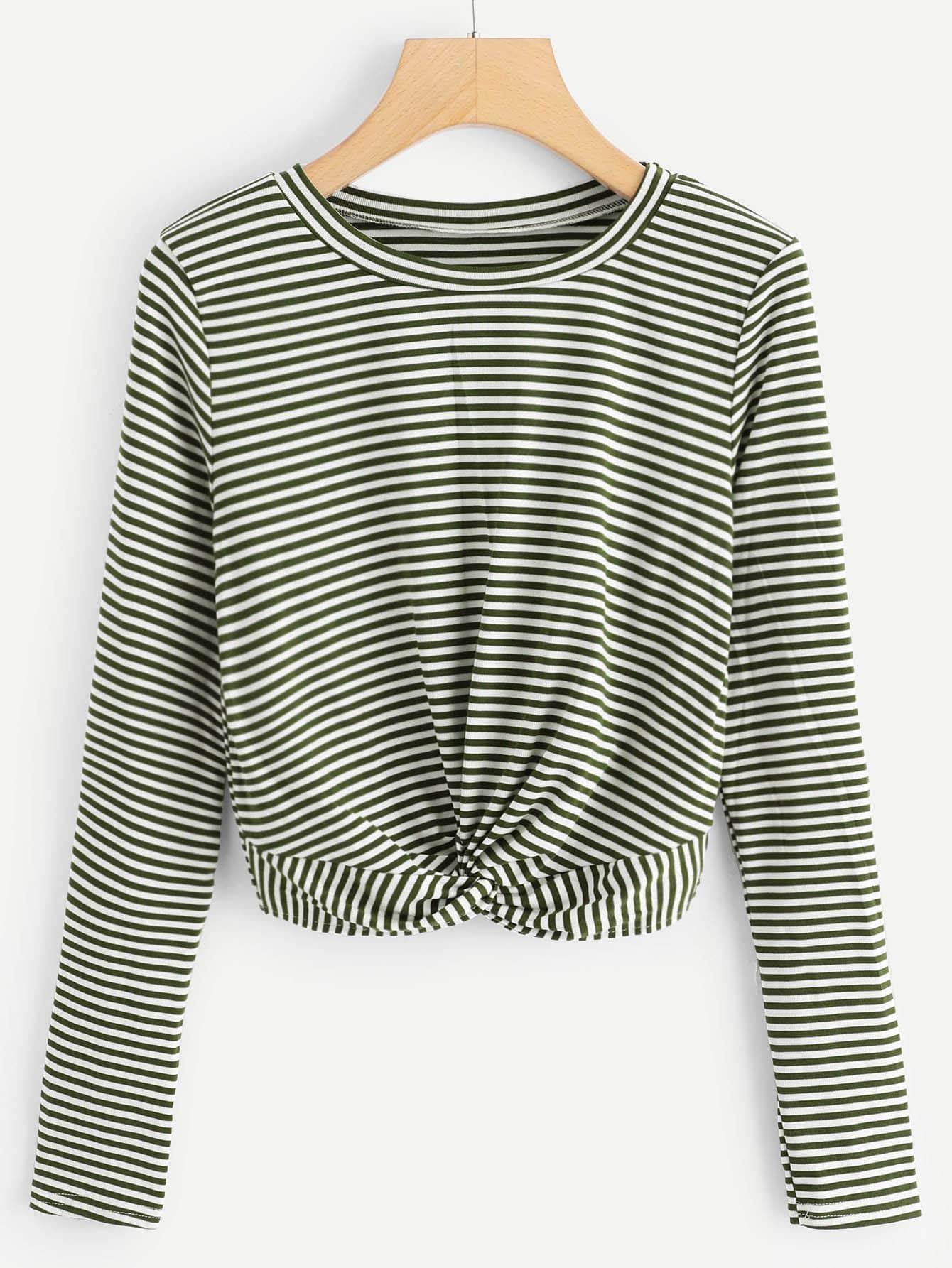 Купить Большая полосатая футболка, null, SheIn