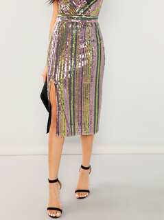 Colorful Sequin Skirt