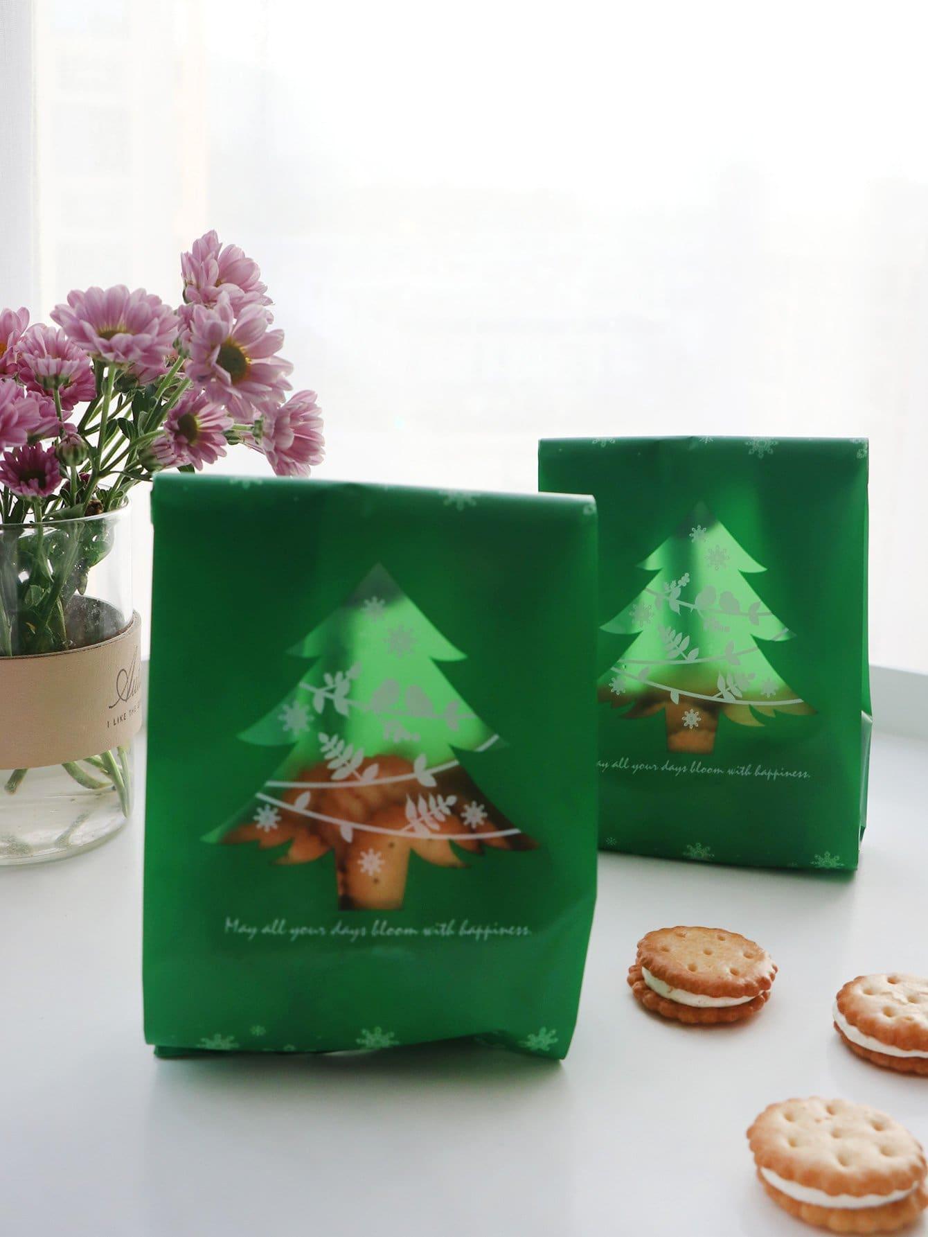 Купить Сумка для печенья в форме рождественского дерева 50 шт., null, SheIn