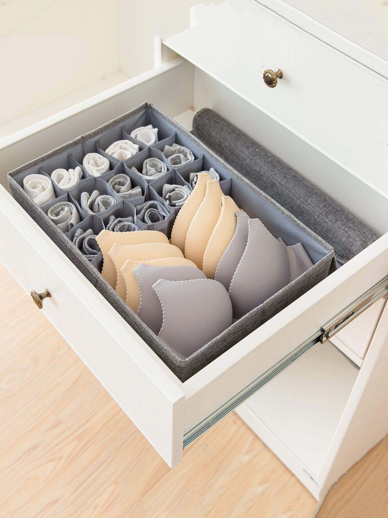 Купить Ящик для хранения нижнего белья с 16 отделениями, null, SheIn