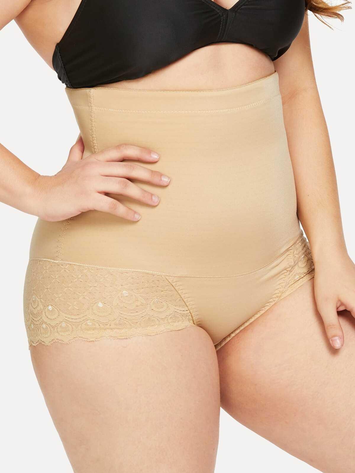 大尺碼 扇形 裝飾 塑身衣 性感內褲
