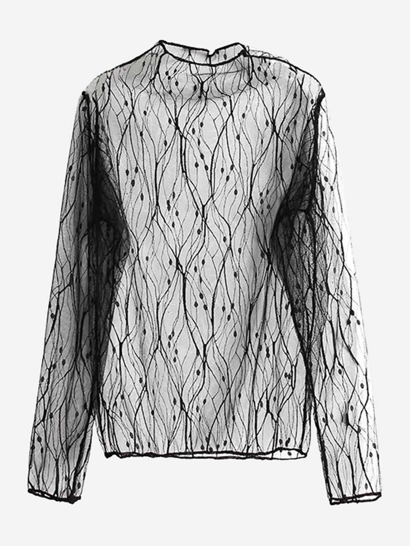 Купить Прозрачная блузка, null, SheIn