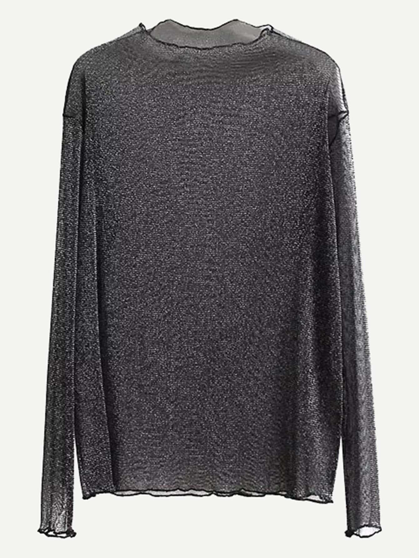 Купить Простая прозрачная блузка, null, SheIn