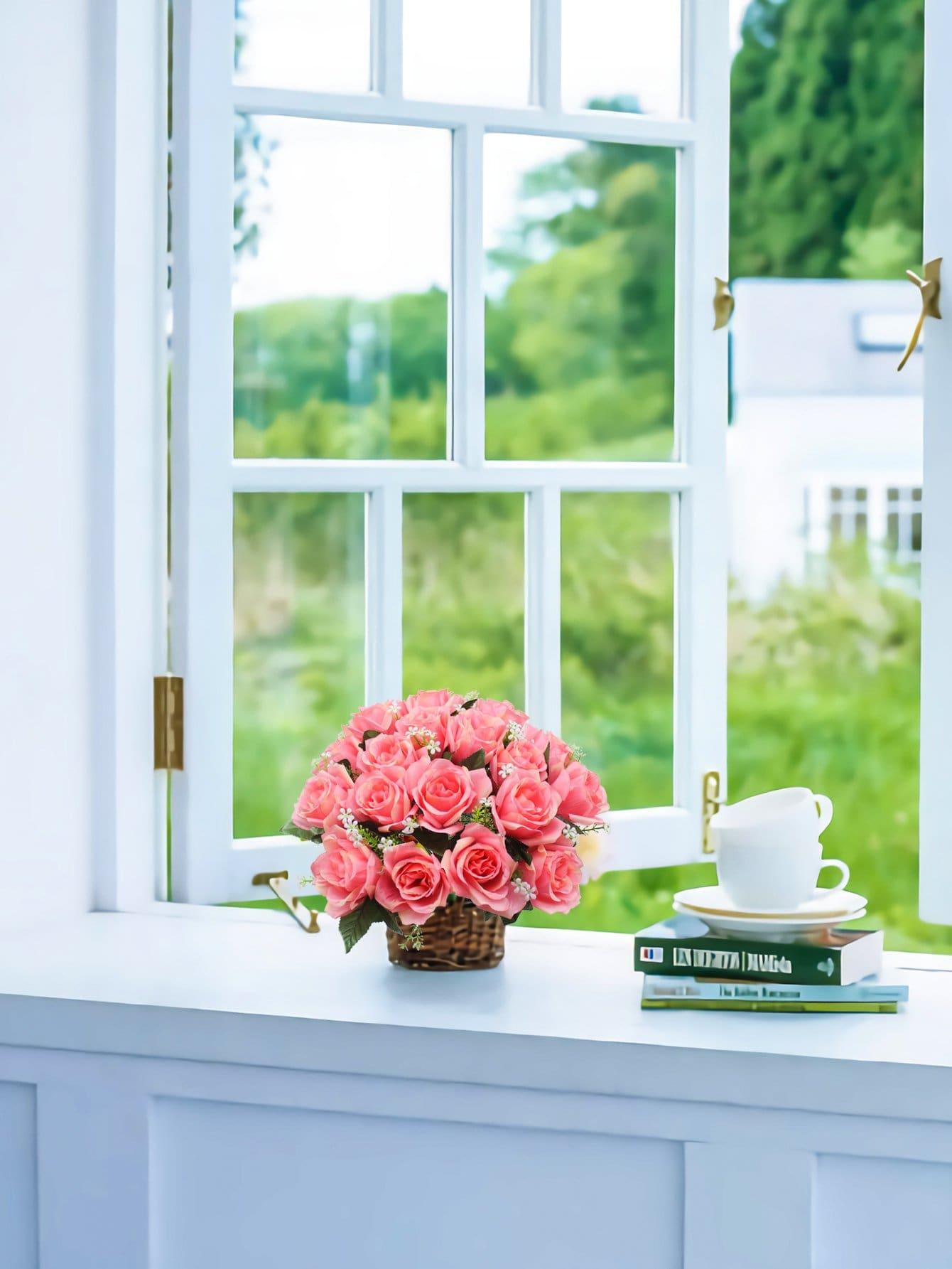 Купить Искусственный букет цветов с веткой 18шт., null, SheIn
