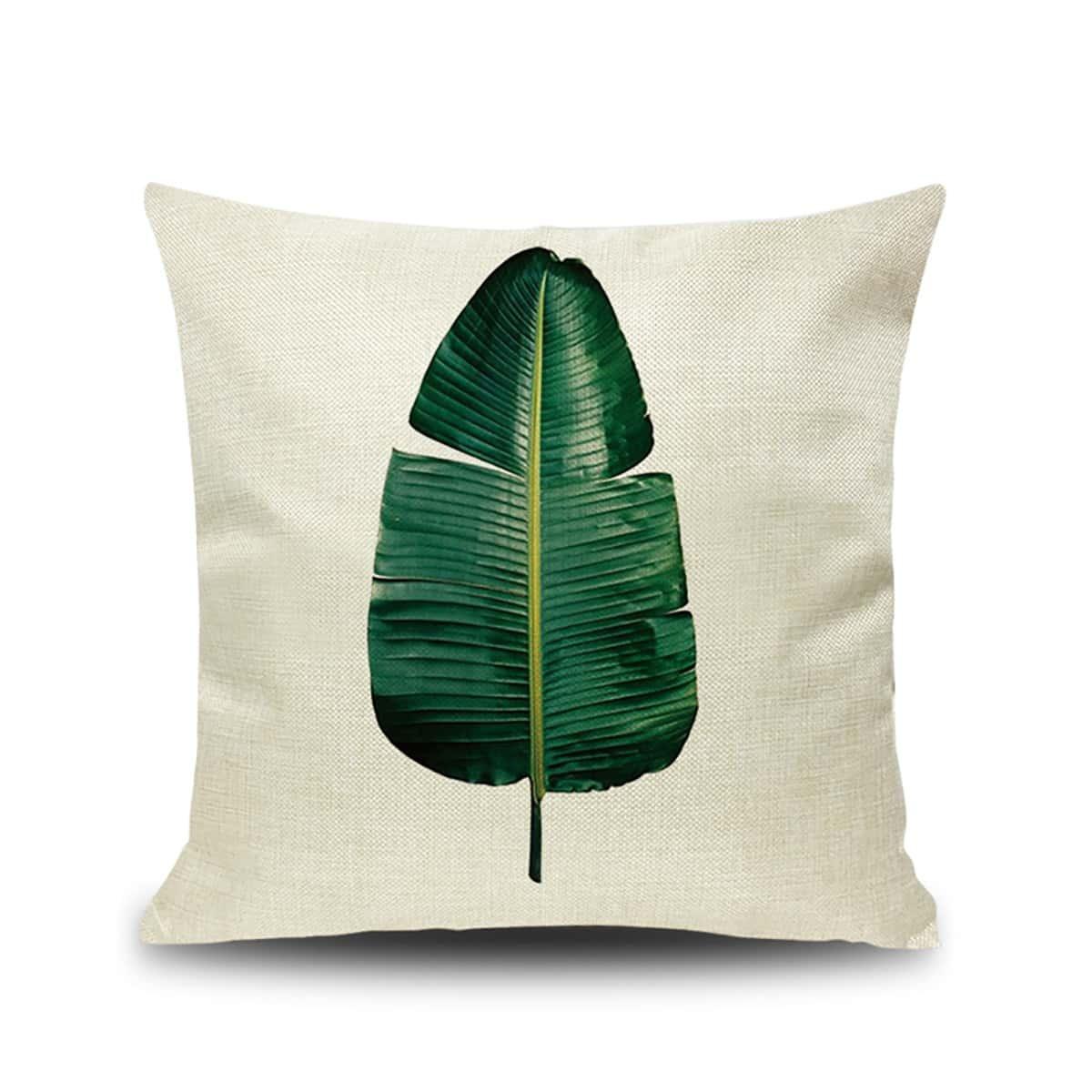Leaf Print Kussenhoes
