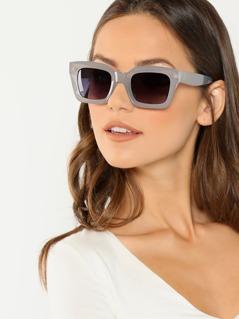 Retro Square Acetate Frame Sunglasses