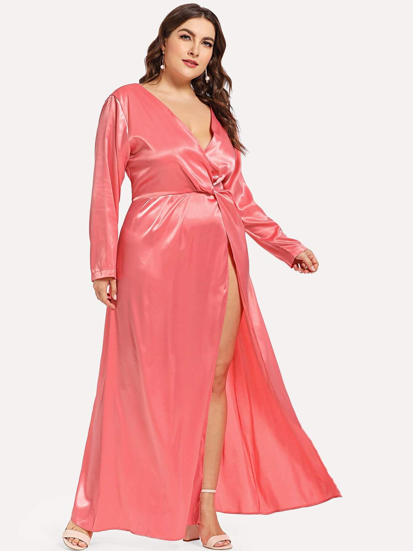 Плюс размеры разделение платье