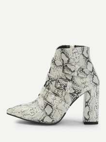 Multicolor Glamorous Snakeskin Print Other Boots, size features are:Bust: ,Length: ,Sleeve Length: