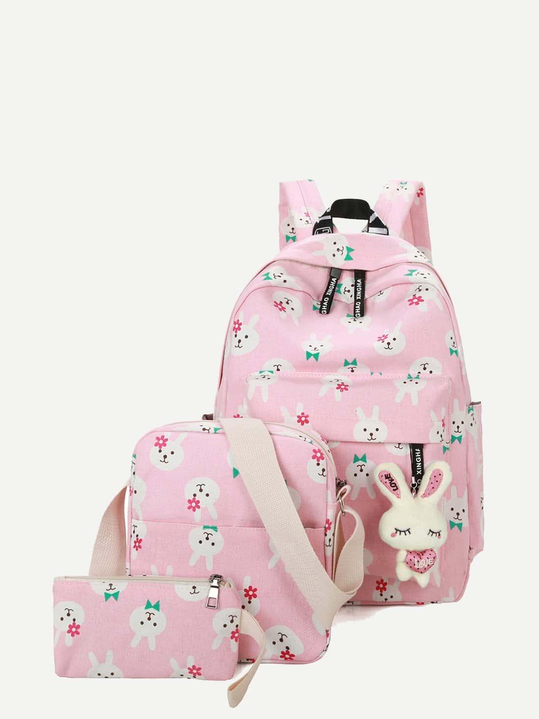 Купить Рюкзак с украшением кролика 3 шт для детей, null, SheIn
