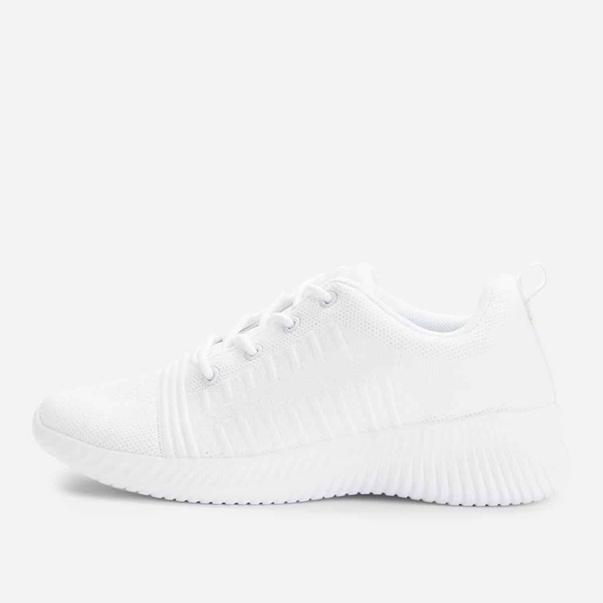 Witte sneakers met veters