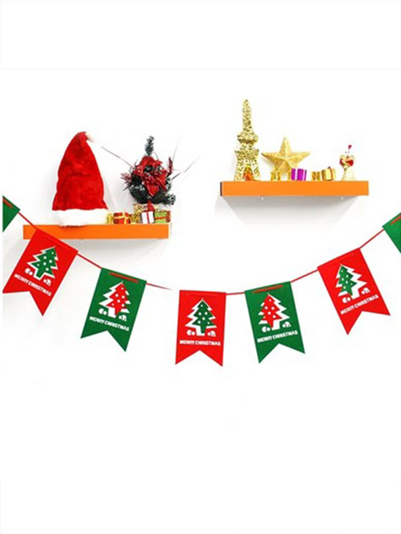 Купить Флаг в форме рождественских деревьев 8 шт с верёвкой, null, SheIn