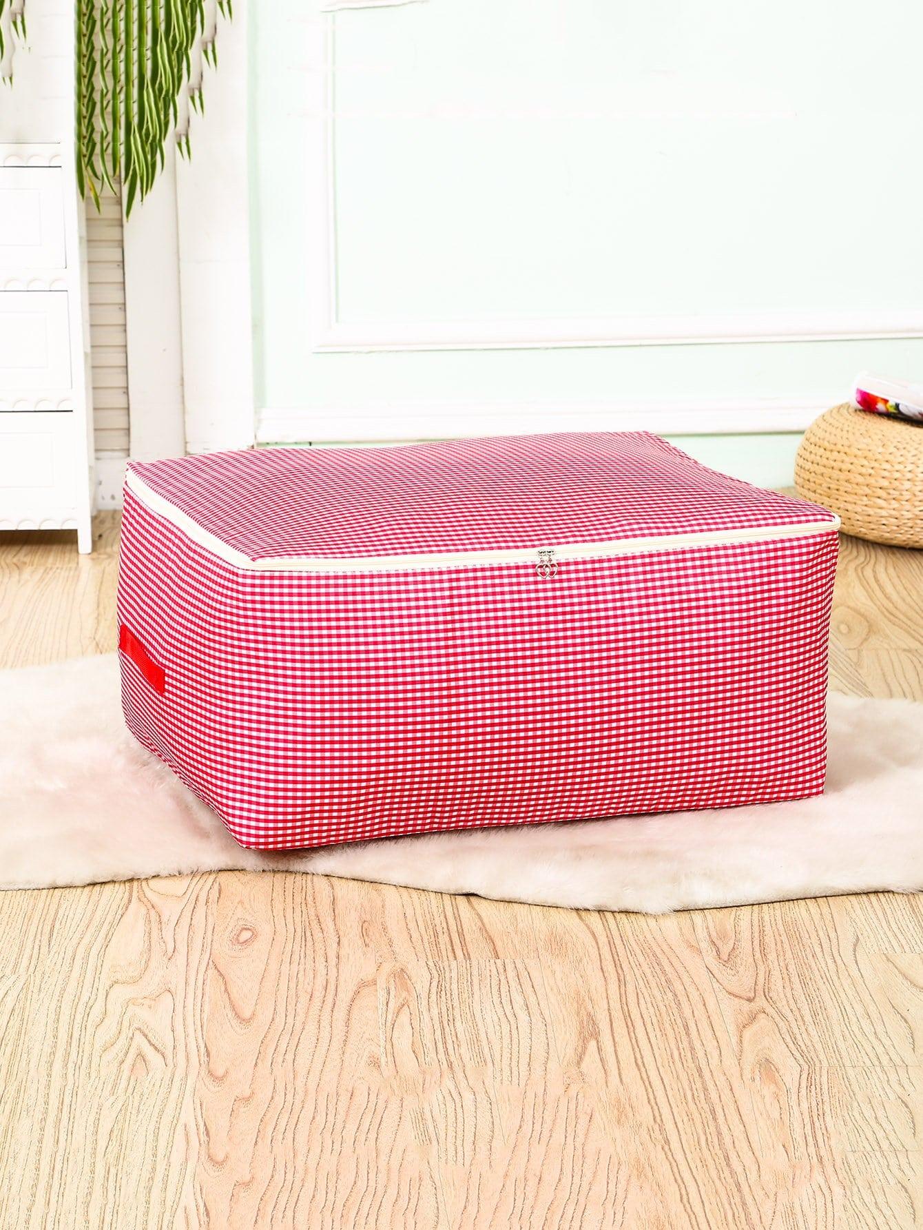 Купить Большой ящик для хранения в клетку 3 шт., null, SheIn