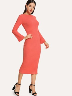 Rib Knit Pencil Dress