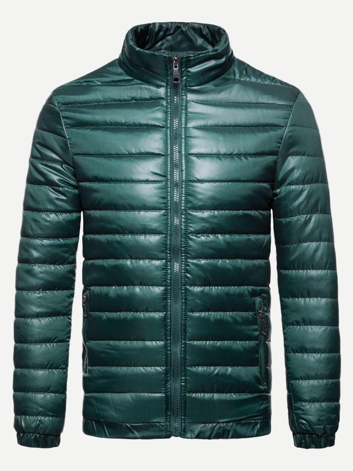 Купить Мужское простое подбитое пальто, null, SheIn
