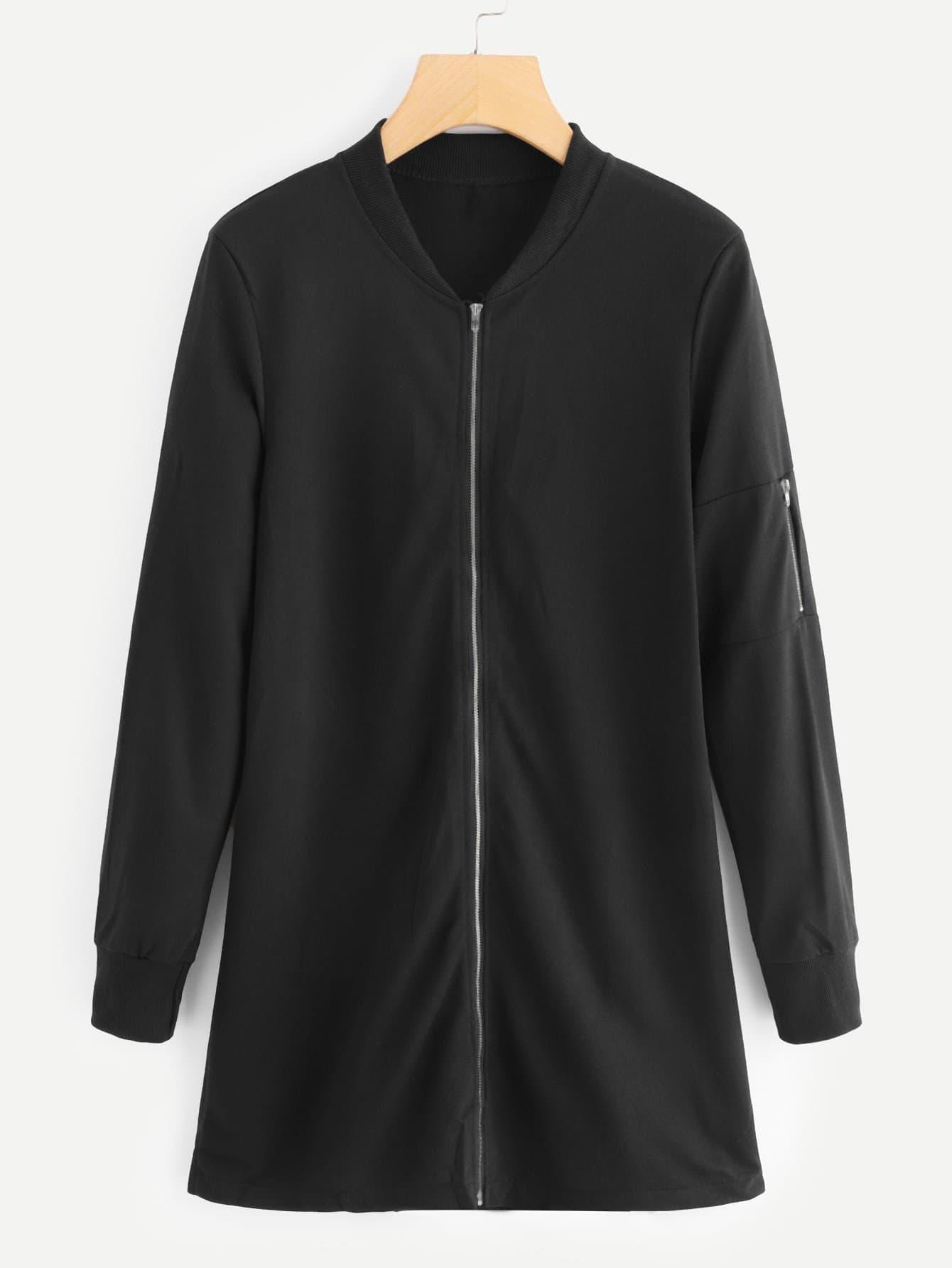 Купить Большое пальто и рукав с застёжкой молния, null, SheIn