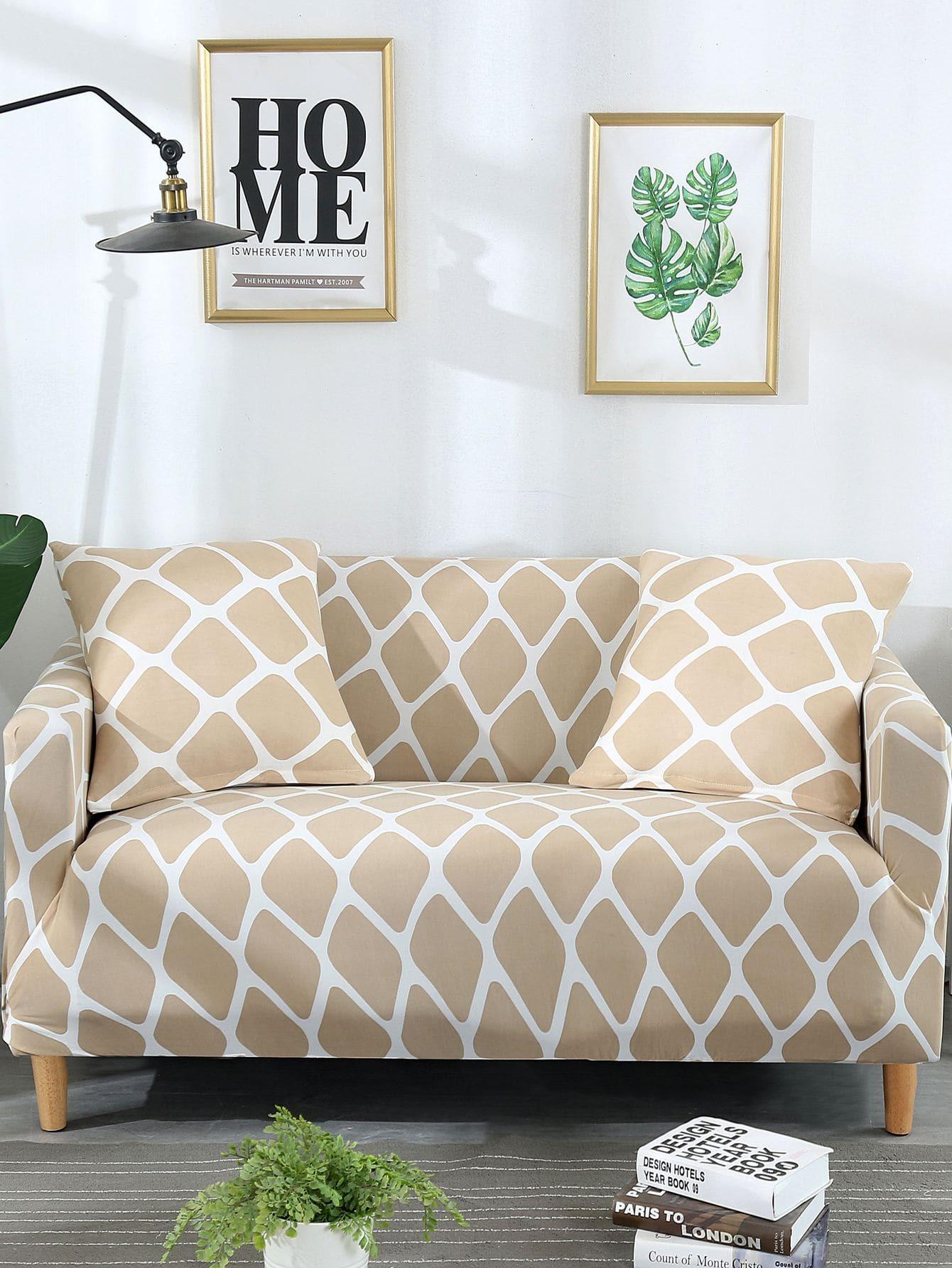 Купить Эластичный чехол в клетку для дивана и подушки 1 шт, null, SheIn