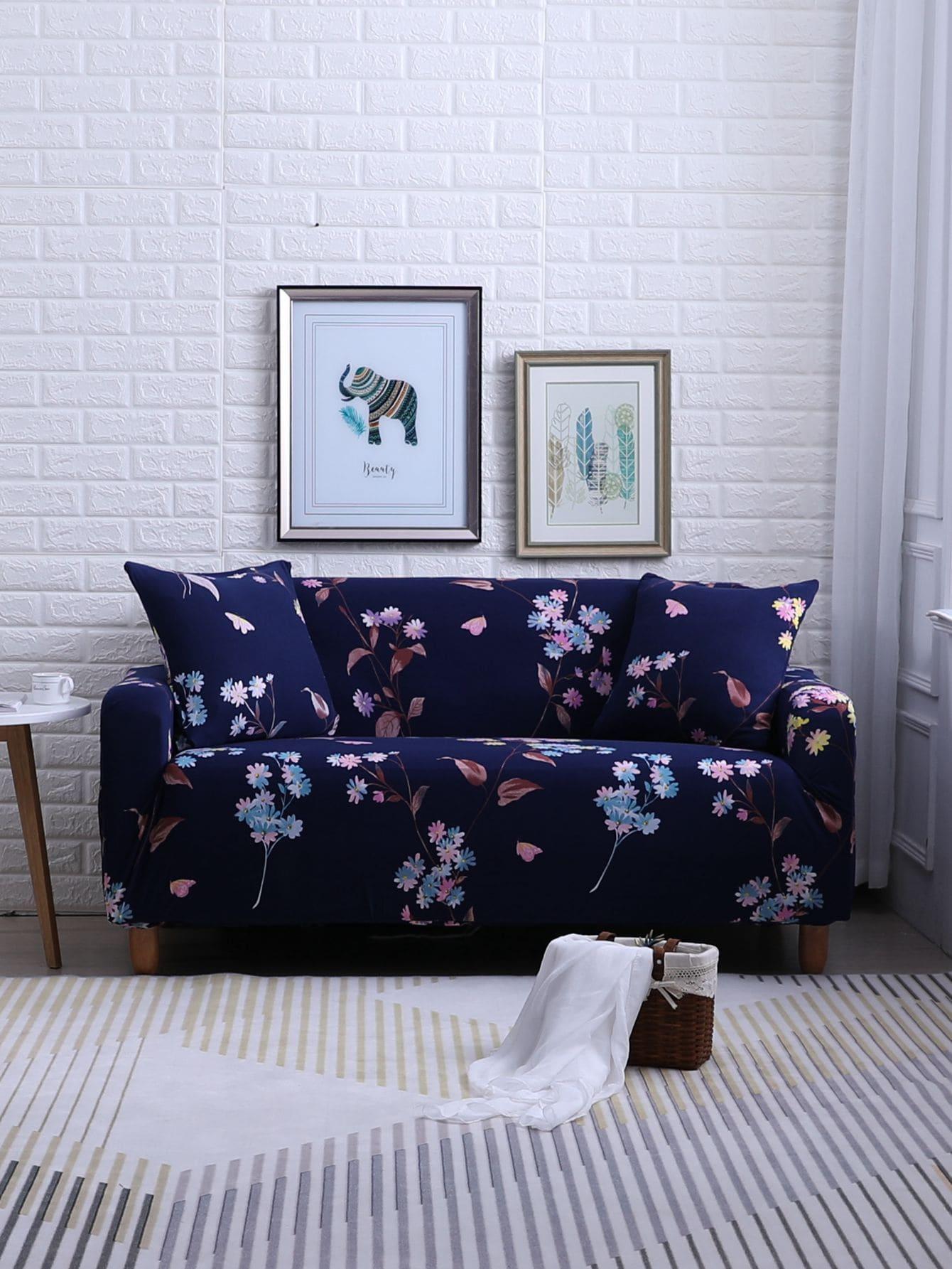 Купить Ситцевый эластичный чехол для дивана и подушки 1 шт, null, SheIn