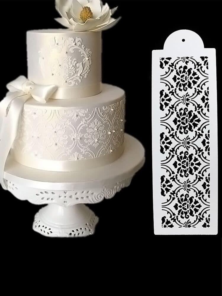 Купить Украшенная доска для торта в форме цветов 1 шт, null, SheIn
