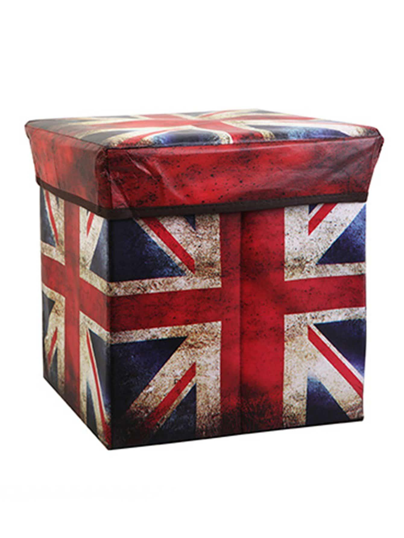 Ящик для хранения с принтом геометрических фигур