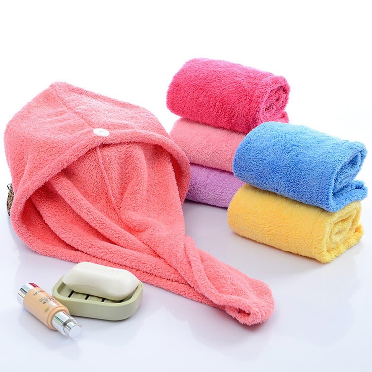 Kleurrijke Haar Handdoek 1stk