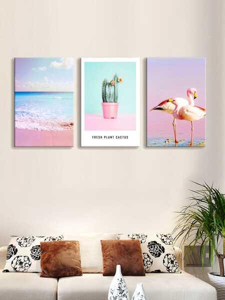 Tropical Print Wall Art 3pcs