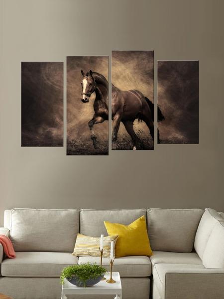Horse Print Wall Art 4pcs