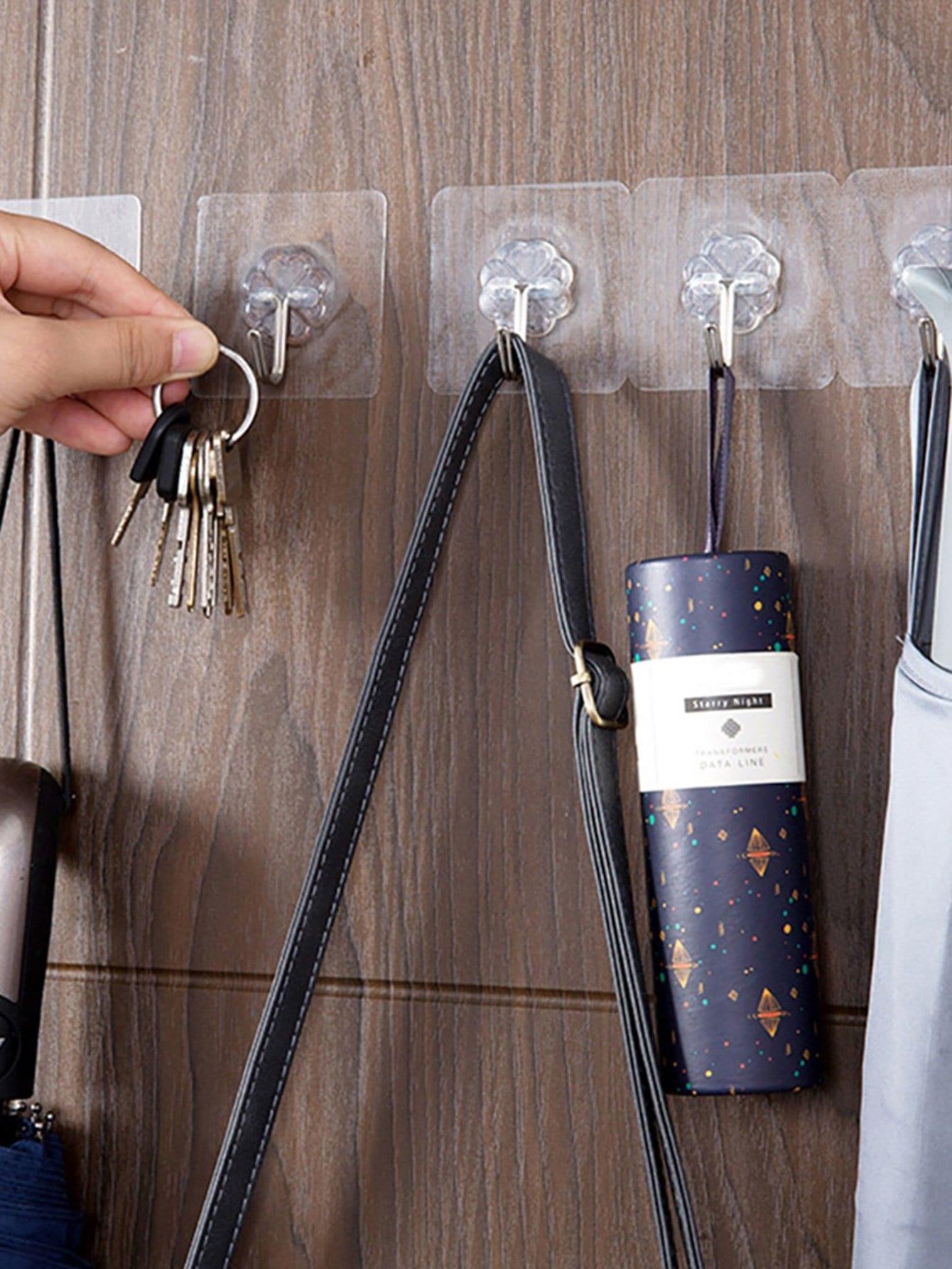 8 шт. прозрачный самоклеющиеся крюк, null, SheIn  - купить со скидкой