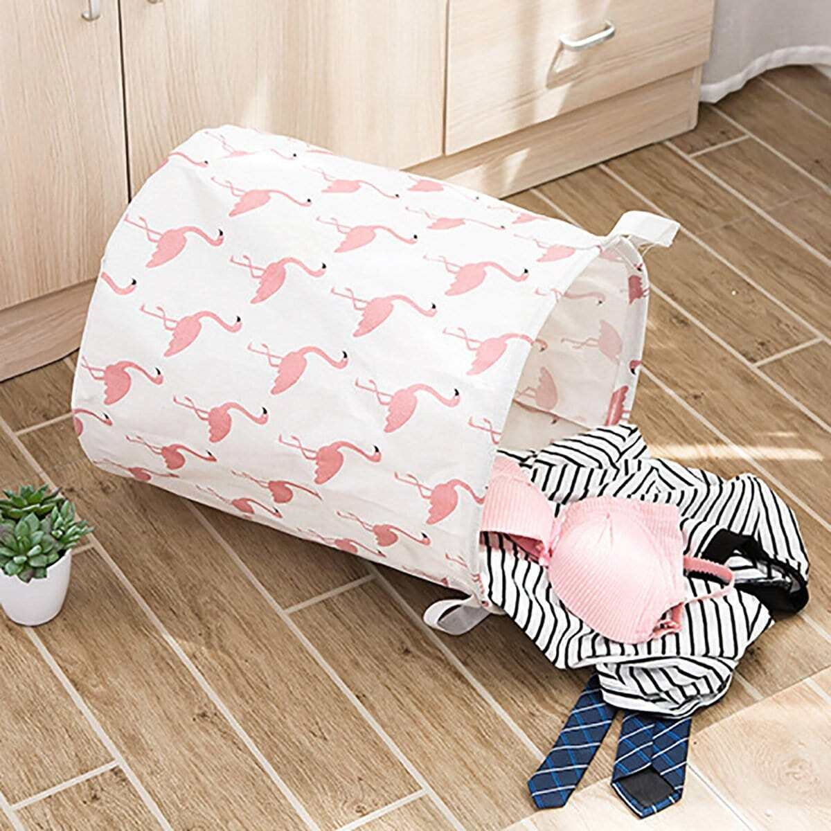 Flamingo Print Storage Basket