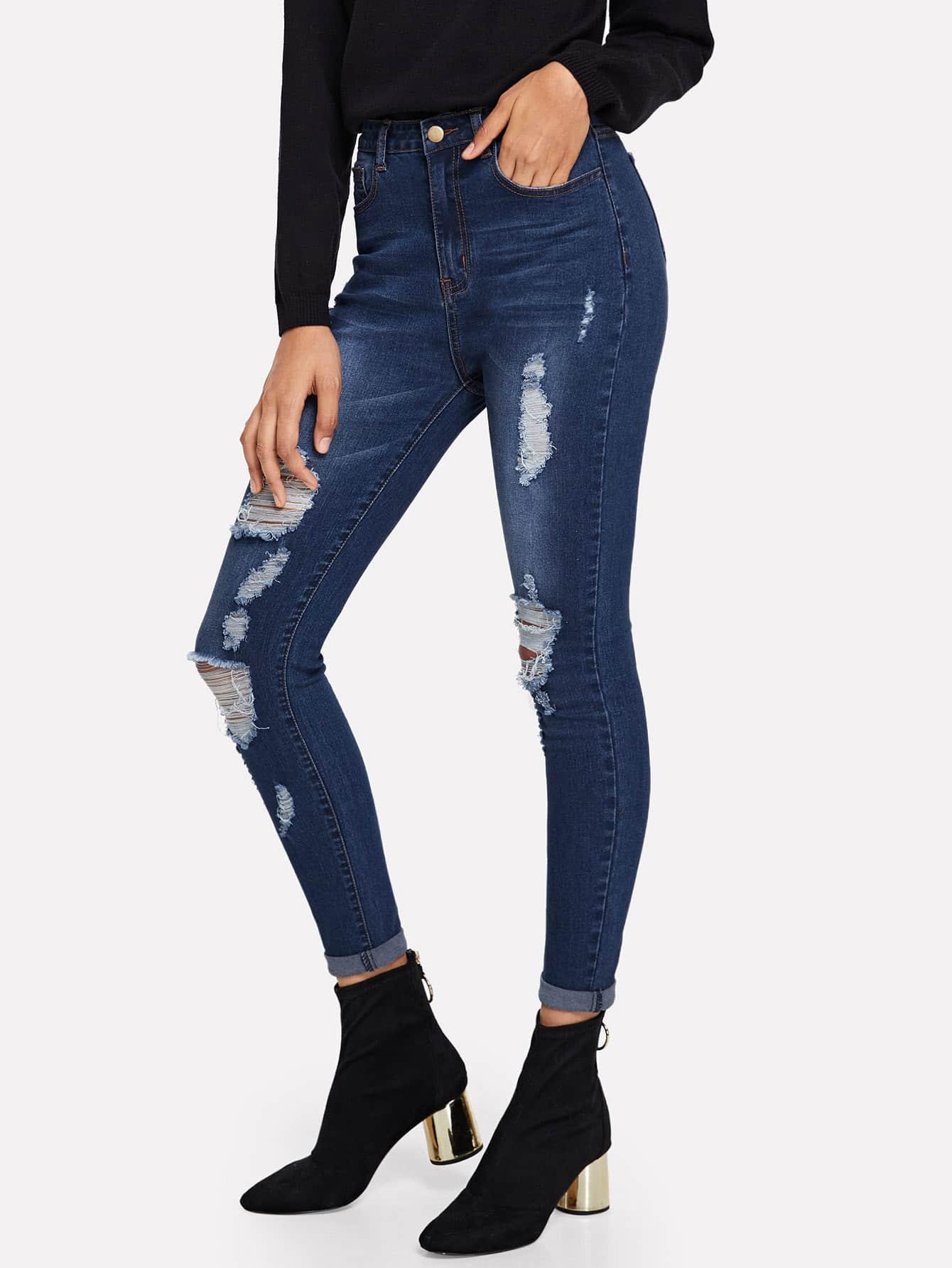 Рваные джинсы, Ana, SheIn  - купить со скидкой