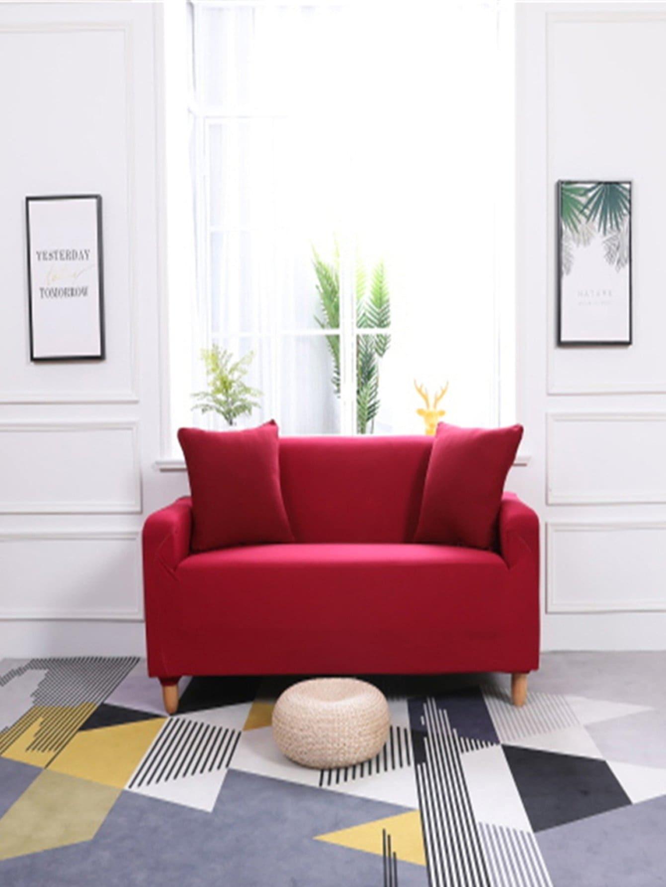 Купить Эластичный чехол для дивана 1шт и подушки 1шт с рельефными узорами, null, SheIn