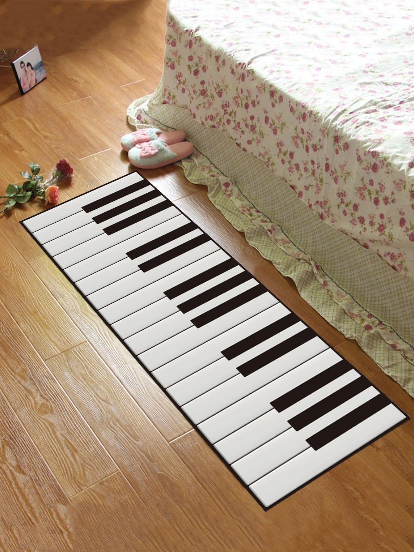 Купить Коврик в форме клавиши фортепиано, null, SheIn