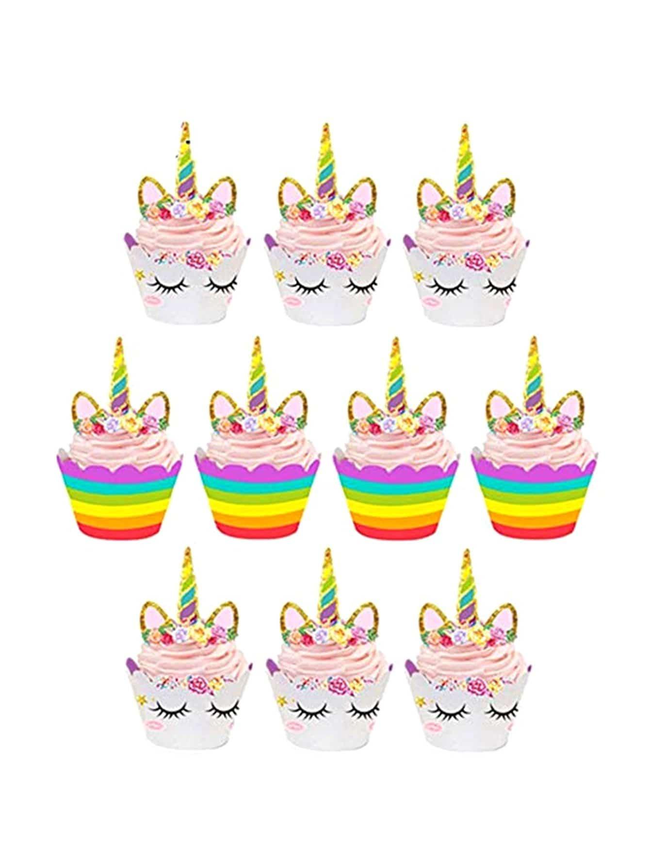 Купить Упаковочный механизм для кексов и топперы для торта 24 шт, null, SheIn