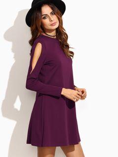 Open Shoulder Swing Dress