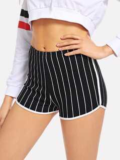 Striped Skinny Shorts