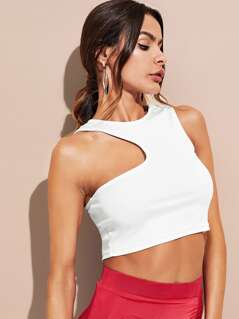 Asymmetric Cutout Tank Top