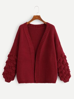 Crochet Bishop Sleeve Cardigan