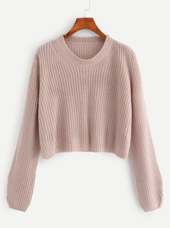 Solid Crop Jumper