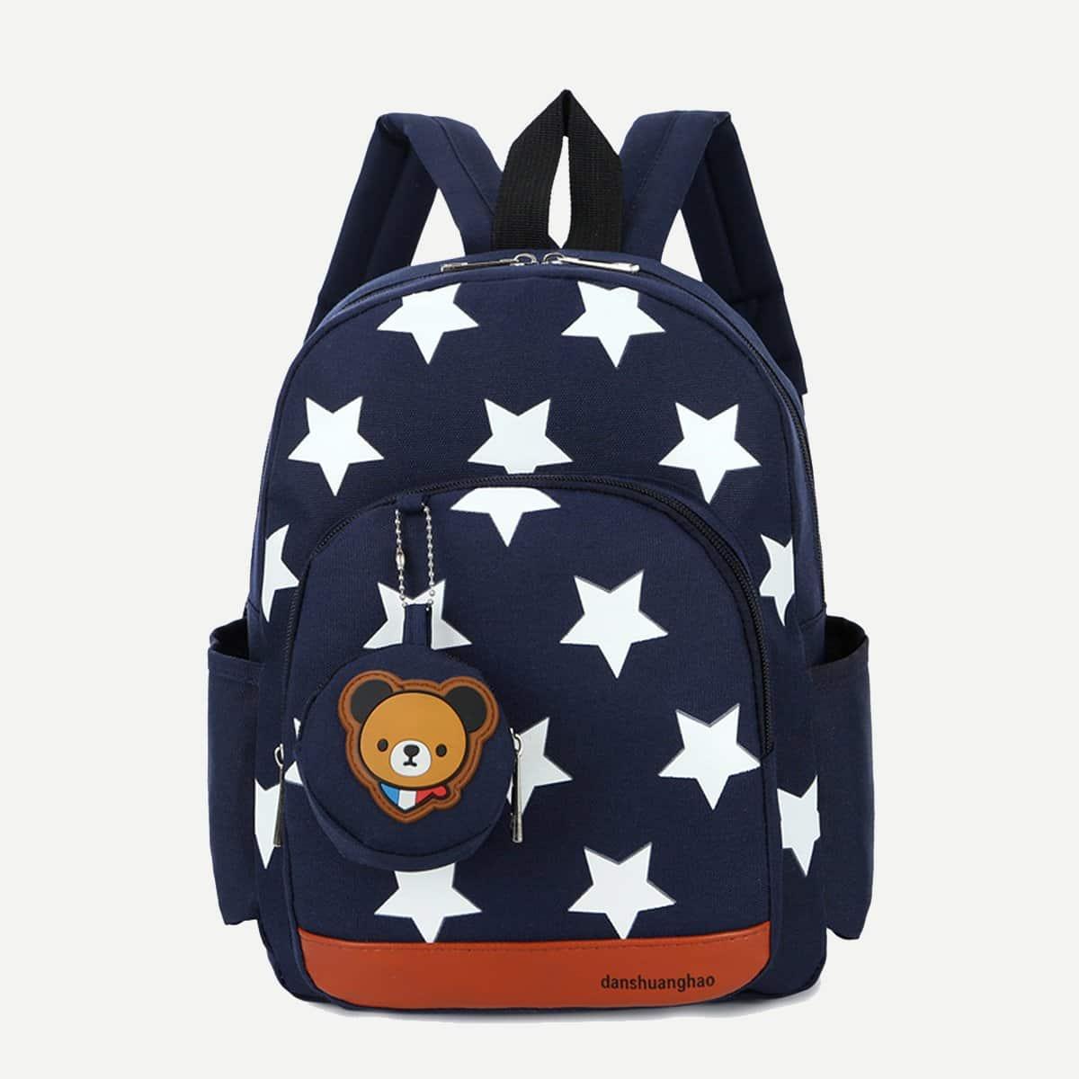 Нейлоновый рюкзак с принтом звёзд для детей