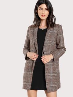 Plaid Boxy Coat