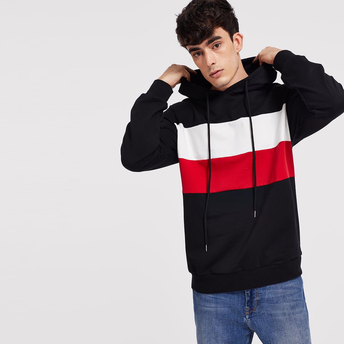 Kleurblok hoodie
