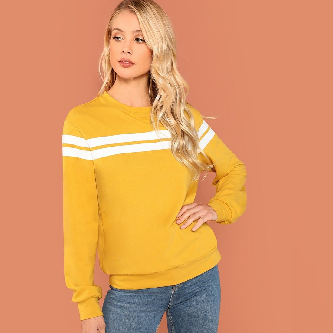 Sweatshirt met strepen